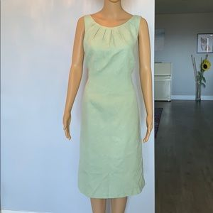 NWT tommy bahama silk/cotton midi dress in mint